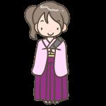 袴の女の子(ロング)