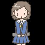 涙ぐむ女の子(セーラー服)