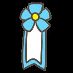 卒業式バッジ(水色)