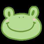 カエルの顔