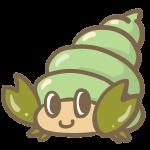 ヤドカリ(緑)