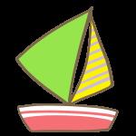 ヨット(緑)