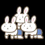 ウサギの組み体操