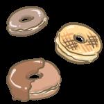チョコドーナツ三つ