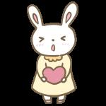 告白するウサギの女の子
