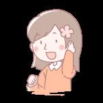 桜を髪に差した女の子