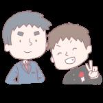 男子生徒と先生
