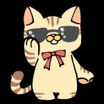 サングラスをしたネコ