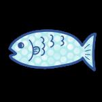 ドット柄の魚