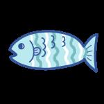 波ストライプ柄の魚