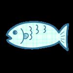 チェック柄の魚