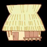 新しいかやぶき屋根のおうち