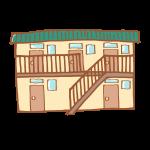 昭和な雰囲気のアパート
