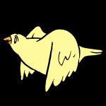 羽ばたき横2