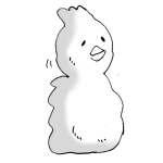 酉の雪だるま