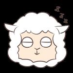 眠るヒツジ