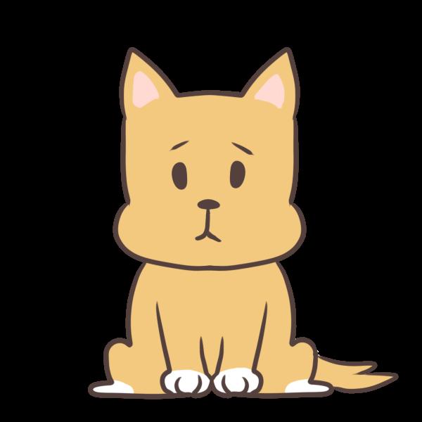 茶色い犬のイラスト