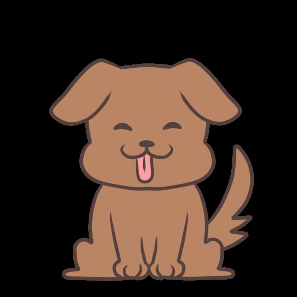 喜ぶ犬のイラスト