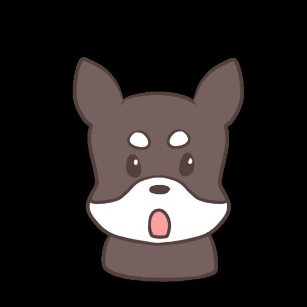 まろ眉の犬のイラスト