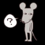 疑問に思うネズミ