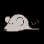 地をはうネズミ