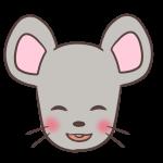 照れるネズミ
