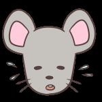 困るネズミ