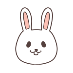 微笑むウサギ