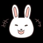 笑うウサギ