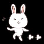 スキップするウサギ