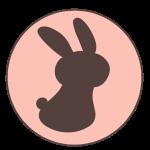 ウサギ(シルエット)