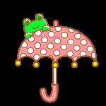 カエルと傘