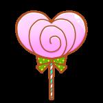 ハートのチョコレートキャンディ