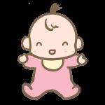 笑う赤ちゃん(女の子)