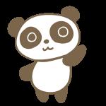 手を振るパンダ