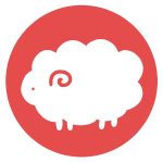 羊のはんこ(丸)