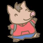 猪の小学生(男の子)