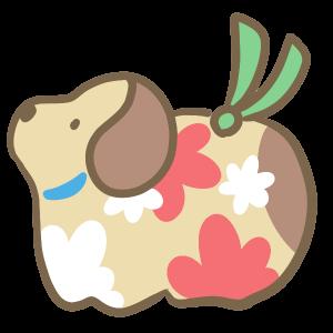 犬の置物(茶色)