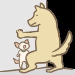 壁ドンする犬