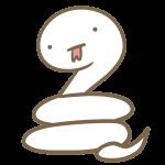 ゆるい白ヘビ(べ-)