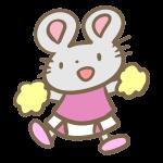 ねずみのチアリーダー(ピンク)
