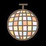ミラーボール(オレンジ系)
