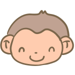 笑った猿の顔