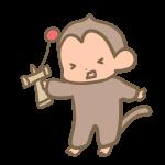 けん玉を失敗する猿