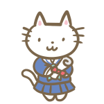 ネコの卒業生(セーラー服)