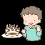 ケーキと男の子