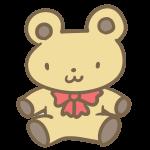 クマのぬいぐるみ(ベージュ)