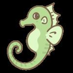 タツノオトシゴ(緑)