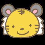 トラの顔(黄色)