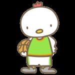 バスケをする鶏(緑)